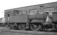 Former GWR Collett 0-4-2T no 1417 on shed at Chester West, probably around the time of its official withdrawal in February 1959. <br><br>[K A Gray&nbsp;//]