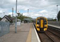 The 0812 service from Wick to Inverness, formed by 158716, stops at Muir of Ord on 19 May, a few minutes ahead of its scheduled 1155 arrival time.  <br><br>[Mark Bartlett&nbsp;19/05/2010]