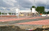 View west from the A89 Edinburgh Road towards the under-construction Bathgate station on 30 May 2010. Most of the foreground is taken up with a section of the extensive new car park which will provide spaces for approximately 400 vehicles.<br><br>[John Furnevel&nbsp;30/05/2010]
