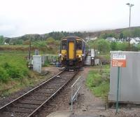 The 0603 from Mallaig crosses the Caledonian Canal swing bridge at the regulation 5mph and rolls in to Banavie station on time at 0718. 156456 will reverse at Fort William and go forward to Glasgow Queen Street where it is scheduled to arrive at 1130am. <br><br>[Mark Bartlett&nbsp;19/05/2010]