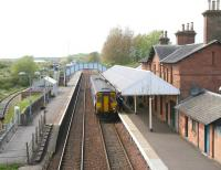 A Glasgow Central - Newcastle service calls at Annan on 13 May 2010. <br><br>[John Furnevel&nbsp;13/05/2010]