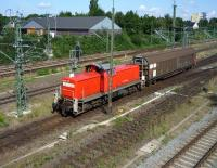 Shunter operating in the yards at Lubeck in July 2009.<br><br>[John Steven&nbsp;21/07/2009]