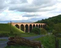 Afternoon sunshine catches Lowgill Viaduct on the former line from Low Gill to Ingleton on 30 May 2010. The WCML and the M6 motorway are less than 200 yards behind the camera.<br><br>[John McIntyre&nbsp;30/05/2010]