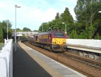 67 025 at Aberdour with the morning loco-hauled Inner Circle service on 3 June 2010<br><br>[David Panton&nbsp;03/06/2010]