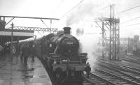 Ivatt 2-6-2T no 41204 has just coupled up to the MRTC <I>Three Counties Special</I> at Stockport on 26 November 1966, having taken over from 47202+47383 after the pair had brought in the train from Bury Bolton Street.<br><br>[K A Gray&nbsp;26/11/1966]