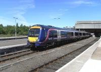 170 428 pulls out of Perth platform 4 on 31 May with an Inverness to Glasgow service.<br><br>[David Panton&nbsp;31/05/2010]