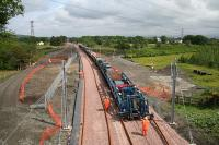 Tracklaying underway between Bathgate and Armadale on 9 June 2010.<br><br>[James Young&nbsp;09/06/2010]