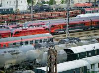 View over Vienna West sidings on 6 June 2010. [<I>With congratulations to Railscot contributor (formerly) Veronica Inglis on her recent marriage.</I> Ed] <br><br>[Veronica Clibbery&nbsp;06/06/2010]