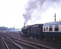 Black 5 no 45030 takes a train south out of Carlisle in the 1960s.<br><br>[Robin Barbour Collection (Courtesy Bruce McCartney)&nbsp;//]