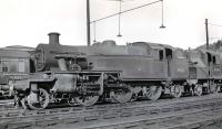 40185 and 40244 stand on Bangor shed (6H) in the late 50s/early 60s. The shed closed in June 1965.<br><br>[K A Gray&nbsp;//]