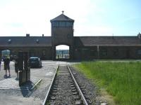 The infamous rail link running into the former Nazi extermination camp at Auschwitz II - Birkenau, Poland, seen in June 2010. After the Second World War Poland established a museum on the site of Auschwitz I and II. The museum is visited annually by three quarters of a million people.   <br> <br><br>[Veronica Clibbery&nbsp;06/06/2010]