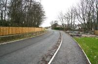 View north west towards Burnside Road over the site of the former Bathgate Lower station in March 2008 with new roads in evidence and housing developments underway. [See image 29357]<br><br>[John Furnevel&nbsp;11/03/2008]