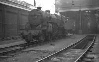 'Crab' no 42777 stands outside the south shed at 9A Longsight, Manchester, in 1962. [With thanks to Vic Smith and Bill Jamieson]<br><br>[K A Gray&nbsp;16/04/1962]