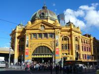 While Melbourne's Southern Cross station has received recent accolades its city neighbour Flinders Street never fails to impress. Seen here on 26 May 2009  <br><br>[Colin Miller&nbsp;26/05/2009]