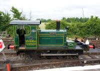 <I>Woodbine</I>, a pre-war Fowler 0-4-0DM from the Swindon tobacco factory of of W.D. & H. O. Wills, which came to the Swindon & Cricklade Railway around 1980. Photographed at Hayes Knoll on 19 June 2010.<br><br>[Peter Todd&nbsp;19/06/2010]