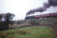 Black 5 no 45041 takes a train north near Shap Wells in the 1960s.<br><br>[Robin Barbour Collection (Courtesy Bruce McCartney)&nbsp;//]