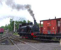 <I>Twizell</I> in steam on the Tanfield Railway in April 2010. The Robert Stephenson 0-6-0T, built in 1891, was being run-in following major restoration work there [see image 29503].<br><br>[Roy Lambeth&nbsp;/04/2010]