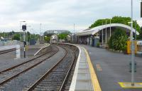 The current station at Kilkenny, fashioned from the former goods shed, seen on 17 May 2008. <br> <br><br>[Colin Miller&nbsp;17/05/2008]