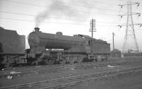 Raven Q7 0-8-0 no 63463 stands on Tyne Dock shed around 1960.<br><br>[K A Gray&nbsp;//1960]