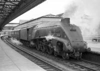 60004 <I>William Whitelaw</I> with the up <I>postal</I> at Stirling on 16 April 1965.<br><br>[Robin Barbour Collection (Courtesy Bruce McCartney)&nbsp;16/04/1965]