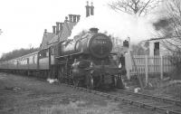 Ivatt 2-6-0 no 43121 standing at Alston on 26 March 1967 with the BLS/SLS <i>Scottish Rambler No 6</i>.<br><br>[K A Gray&nbsp;26/03/1967]
