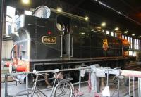 Ex-GWR Collett 0-6-2T no 6619 has Grosmont shed to itself on 26 March 2010.<br><br>[John Furnevel&nbsp;26/03/2010]