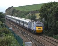 East Coast's morning Leeds to Aberdeen service about to pass the Seafield Colliery junction site on 23 June 2010<br><br>[David Panton&nbsp;23/06/2010]