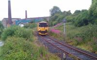 Network Rail inspection unit halted at a signal on the Rosyth Dockyard branch on the approach to Inverkeithing South Junction on 10 July 2010 waiting to proceed back onto the main line.<br> <br><br>[Grant Robertson&nbsp;10/07/2010]