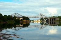 Connel Ferry bridge, in the early morning, from the east, June 2010.<br><br>[Colin Miller&nbsp;29/06/2010]