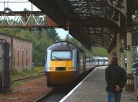 <I>The Highland Chieftain</I> leaves Perth platform 7 and heads north for Inverness on 14 July.<br><br>[Brian Forbes&nbsp;14/07/2010]