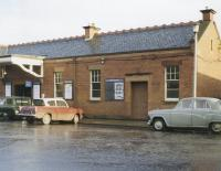 The exterior of the building on Station Road Corstorphine, photographed on 30 December 1967, the last day of scheduled passenger services.<br><br>[Jim Peebles&nbsp;30/12/1967]