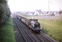 McIntosh 3F 0-6-0 no 57580 with empty mineral wagons heading south at Troon in the summer of 1959.<br><br>[A Snapper (Courtesy Bruce McCartney)&nbsp;21/08/1959]
