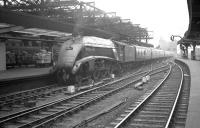 60004 <I>William Whitelaw</I> brings a train into a grey-looking Newcastle Central in the late 50s/early 60s.<br><br>[K A Gray&nbsp;//]