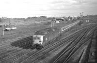 Deltic 9014 <I>The Duke of Wellington's Regiment</I> approaches Portobello East signalbox with the down <I>Flying Scotsman</I> on 25 February 1970.<br><br>[Bill Jamieson&nbsp;25/02/1970]