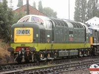 Deltic D9009 <I>Alycidon</I> stands at Loughborough Central on 26 July 2010. The locomotive is�visiting the GCR until September.<br><br>[Mark Poustie&nbsp;26/07/2010]