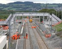 Hive of activity. Scene at Armadale on 27 July 2010 looking towards Bathgate.<br><br>[John Furnevel 27/07/2010]