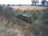 Track lifting train near Kelso Junction in the early 1970s.<br><br>[Bruce McCartney&nbsp;//]