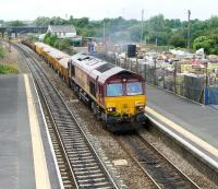 66037 heading a PW train westbound through Patchway station in Bristol's outer suburbs on 27 July.<br><br>[Peter Todd&nbsp;27/07/2010]