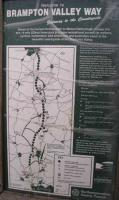 Map of the Brampton Valley Way following the course of the Northampton to Market Harborough railway.<br><br>[Bob Ellis&nbsp;//]
