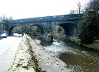 Viaduct on the original Canal Street - Granton Harbour line crossing the Water of Leith. View west along Warriston Road in 2010, with Warriston Junction off to the right. <br><br>[John Furnevel&nbsp;10/03/2003]