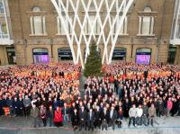 Christmas 2011 at Kings Cross. Celebrating the end of major construction work on the Western Concourse... and a Happy New Year to one and all! [See News Item].<br><br>[Network Rail&nbsp;/12/2011]