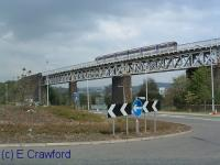 Sprinter crossing the Jamestown Viaduct.<br><br>[Ewan Crawford //]