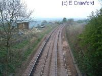 Falkland Road looking north. There was a station building on the left until the 1980s.<br><br>[Ewan Crawford&nbsp;//]