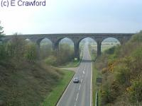 Markinch viaduct to the south of the station. The view looks west.<br><br>[Ewan Crawford&nbsp;//]