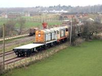 Scene at the former Smalmstown Base Ammunition Depot in March 2005, with privately stored class 20s occupying a siding. Once used for the storage of explosive materials, Smalmstown was part of the Eastriggs to Longtown military complex.<br><br>[John Furnevel&nbsp;10/03/2005]