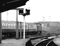 A class 50 takes a southbound train out of Carlisle in 1970.<br><br>[John Furnevel&nbsp;03/09/1970]