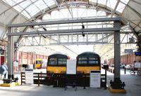 Looking out from the concourse at Helensburgh Central on 23 April 2005.<br><br>[John Furnevel&nbsp;23/04/2005]