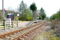 Scene at Tyndrum Lower Station on a pleasant April morning in 2005, looking south east towards Crianlarich.<br><br>[John Furnevel&nbsp;12/04/2005]