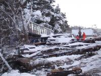 Bit of a mess! Organising the recovery operation at Carrbridge - 11 January 2010.<br><br>[Gus Carnegie 11/01/2010]