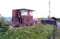 Freemans level crossing, North Blyth, in May 2004, looking west towards Winning Junction.<br><br>[John Furnevel&nbsp;25/05/2004]